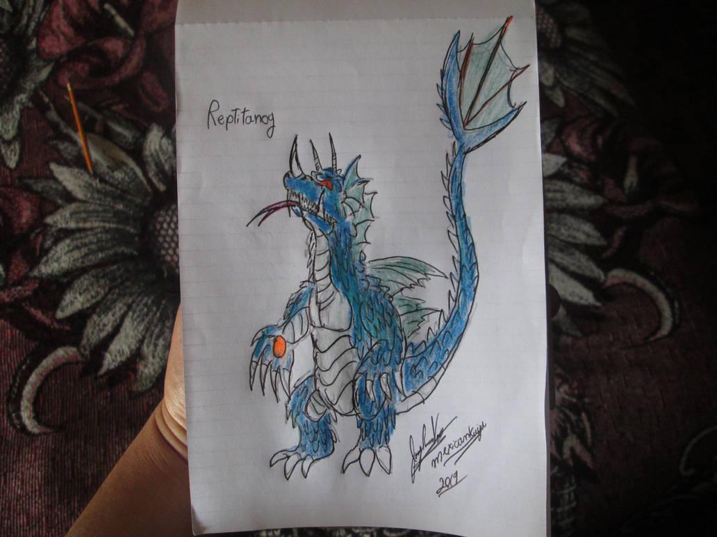 Reptitanog for Dracosaurus-Rex by Mexicankaiju