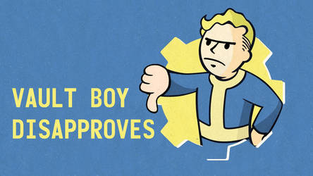 Vault Boy Thumbs Down Fallout by Tramauhh
