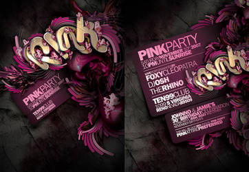 PINK PARTY FLYER by Demen1