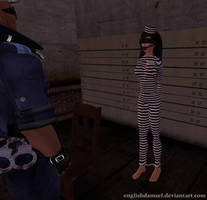 Blindfolded Jailbird by EnglishDamsel