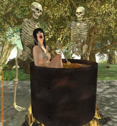 Skeleton Feast by EnglishDamsel