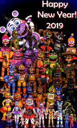 Happy New Year!2019 - [FNaF Blender] by ChuizaProductions