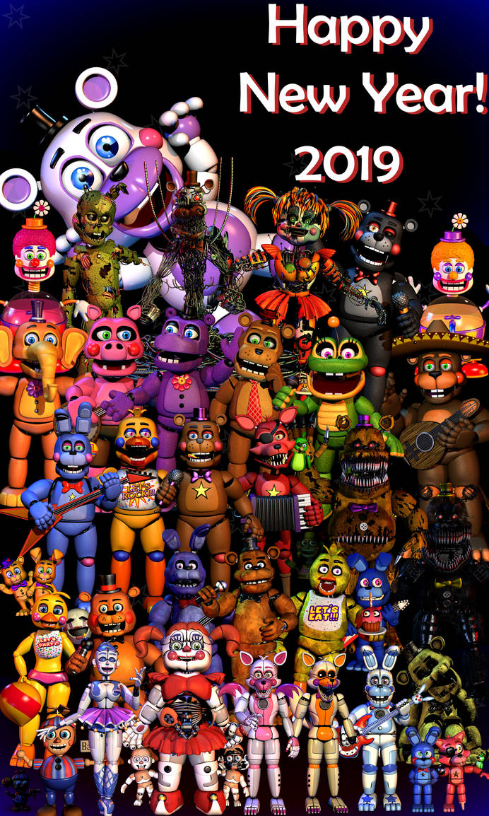 Happy New Year!2019 - [FNaF Blender] by ChuizaProductions ...