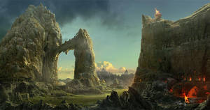 matte landscape by Guang-Yang