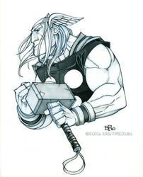 Thor bust by Sweatybuffalo