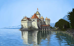 'Chillon Castle Study' Geneva, Switzerland by Robbie7