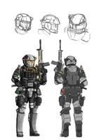 'Voron' Custom Combat Armor by Dehzinn