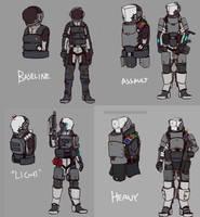 Suit variants by Dehzinn
