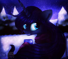 . : Luna relaxing : . (speedpaint) by StarChaseSketches