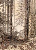 Sepia Woodland by LynneHendersonArt