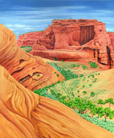 Arizona canyons by LynneHendersonArt