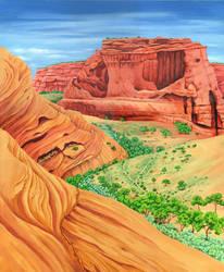 Arizona canyons by LynneHendersonArt