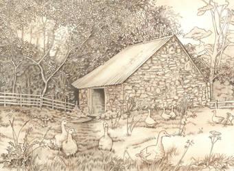 Old Ancrum Pastoral by LynneHendersonArt