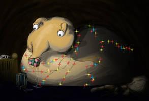 The Christmas Slug in colour by imaginarymuppett