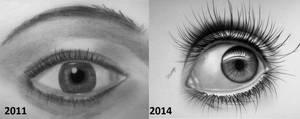 Eye drawing progress by lihnida