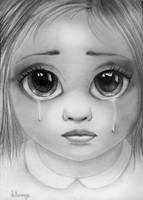 Tim Burton's 'Big Eyes' drawing by lihnida
