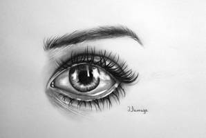 30 minutes eye drawing by lihnida