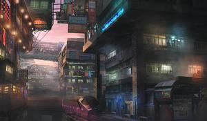 Tokyo Shinjuku 2093 by M-Delcambre