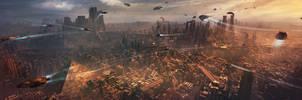 Sci-fi City by M-Delcambre