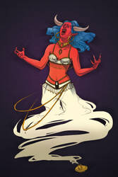 Pari as a Djinn (DAF Artbattle 2013) by Seyreene