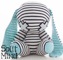 Blue Star Bunny by splitmindplush