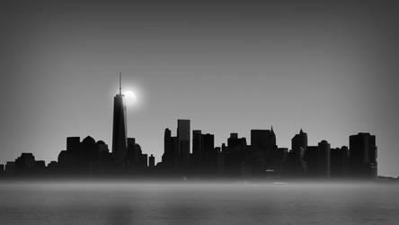 NY Skyline Sunset by tony2016