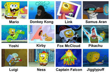 SSB64 Portrayed by Spongebob by The9Lord