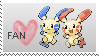 stamp::minun and plusle by kat116