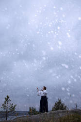 First snow in Oshu I by eamilia
