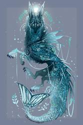 Cerulean Tide's Treasure Deity QuillDog by MischievousRaven