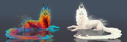 Duo QuillDog Set! by MischievousRaven