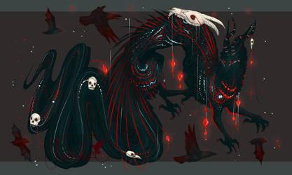 Shadowed Jeweled Dragon Deity QuillDog by MischievousRaven
