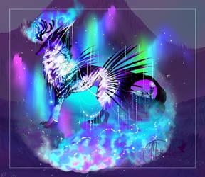 Piebald Galaxy of Aurora Wonders by MischievousRaven