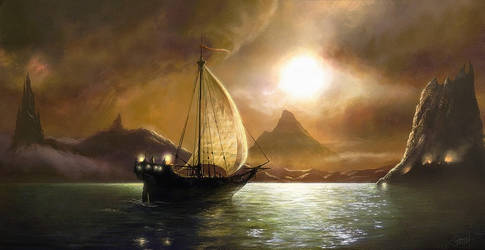 sailing to Achaeron by moonxels
