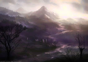 dreary hills by moonxels