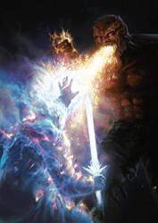 Demon vs Angel by moonxels
