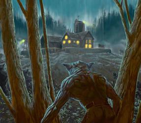 Nightfall Werewolf by AndyHep