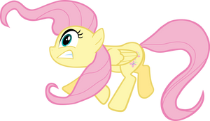 Fluttershy Tripping Vector by VladimirMacHolzraum