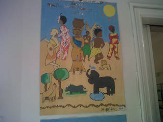 Malawi folk art by josietiwo