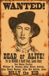 Wanted Billy The Kid by SaintAlbans