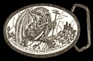 Cthulhu Belt Buckle by SaintAlbans