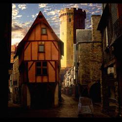 medieval street by binouse49