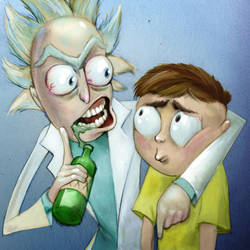 Rick and Morty by BoKaier