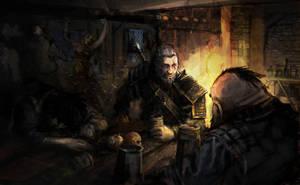 Geralt I Zoltan - Geralt of Rivia - Witcher film by chrzan666