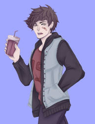 Neat half body commission: Nathan by BrokenDoll777