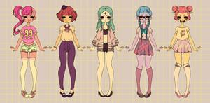 [CLOSED PAYPAL/POINTS] Adoptable harajuku girls 02 by BrokenDoll777