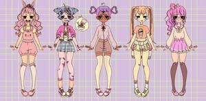 [CLOSED PAYPAL/POINTS] Adoptable harajuku girls 03 by BrokenDoll777