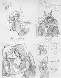 Finn-teractions: Huntress Wizard by oobidoobi