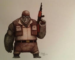 Sergeant Bananas by ChainsawTeddybear