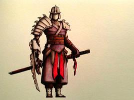 The Shredder watercolor by ChainsawTeddybear
